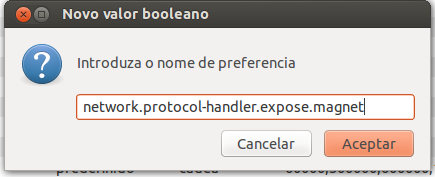 Configurar Firefox descargar magnet links