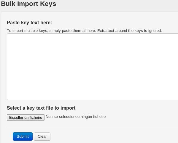 Importando clave