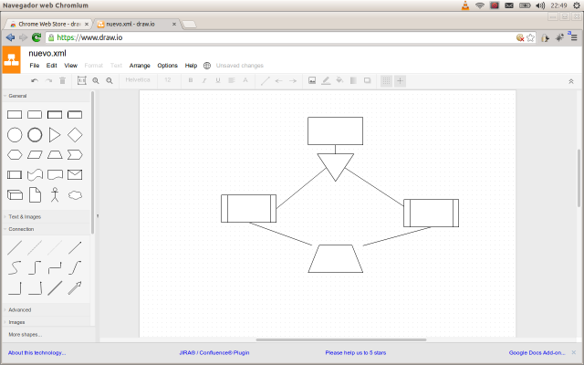 how to draw line visio