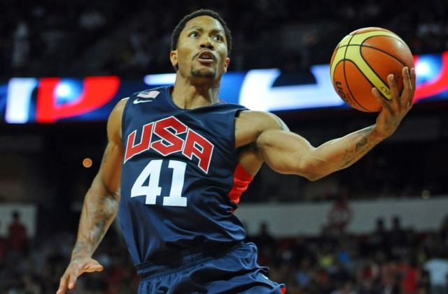Derrick Rose con el Team USA