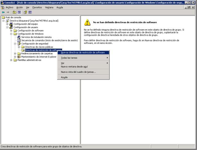directiva de bloqueo de software
