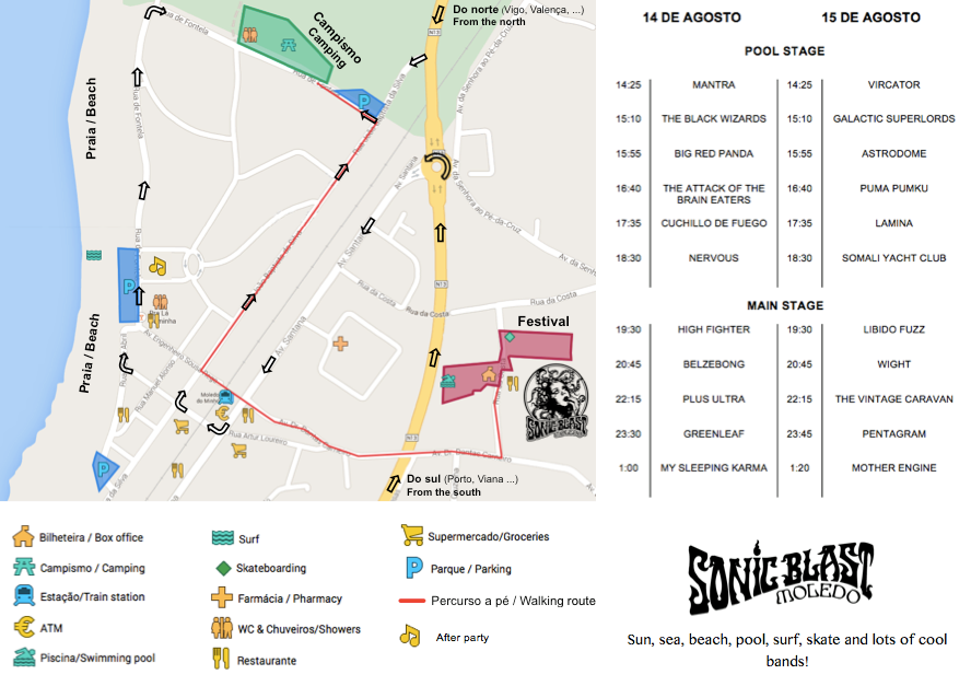 horarios mapa sonic blast moledo 2015