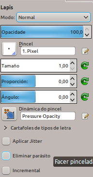 configurando lápiz para pixelart