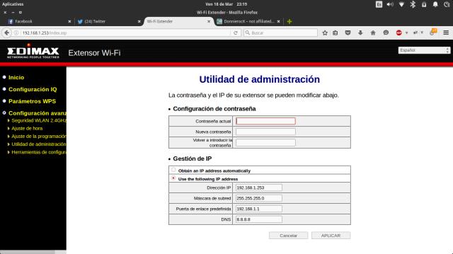 Edimax administración