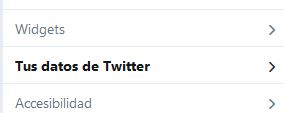 Twitter descargar datos
